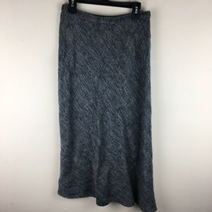 Eileen Fisher gray asymmetrical hem linen skirt